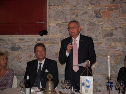 Il Presidente uscente, Alide Dovier, relaziona sui risultati dell'annata
