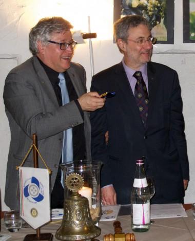 Il Rettore Felice De Toni assieme al Presidente Claudio Cressati