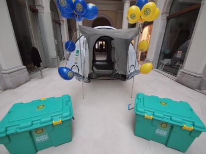 Le Shelter Box Rotary, predisposte per inetrventi rapidi nelle emergenze internazionali